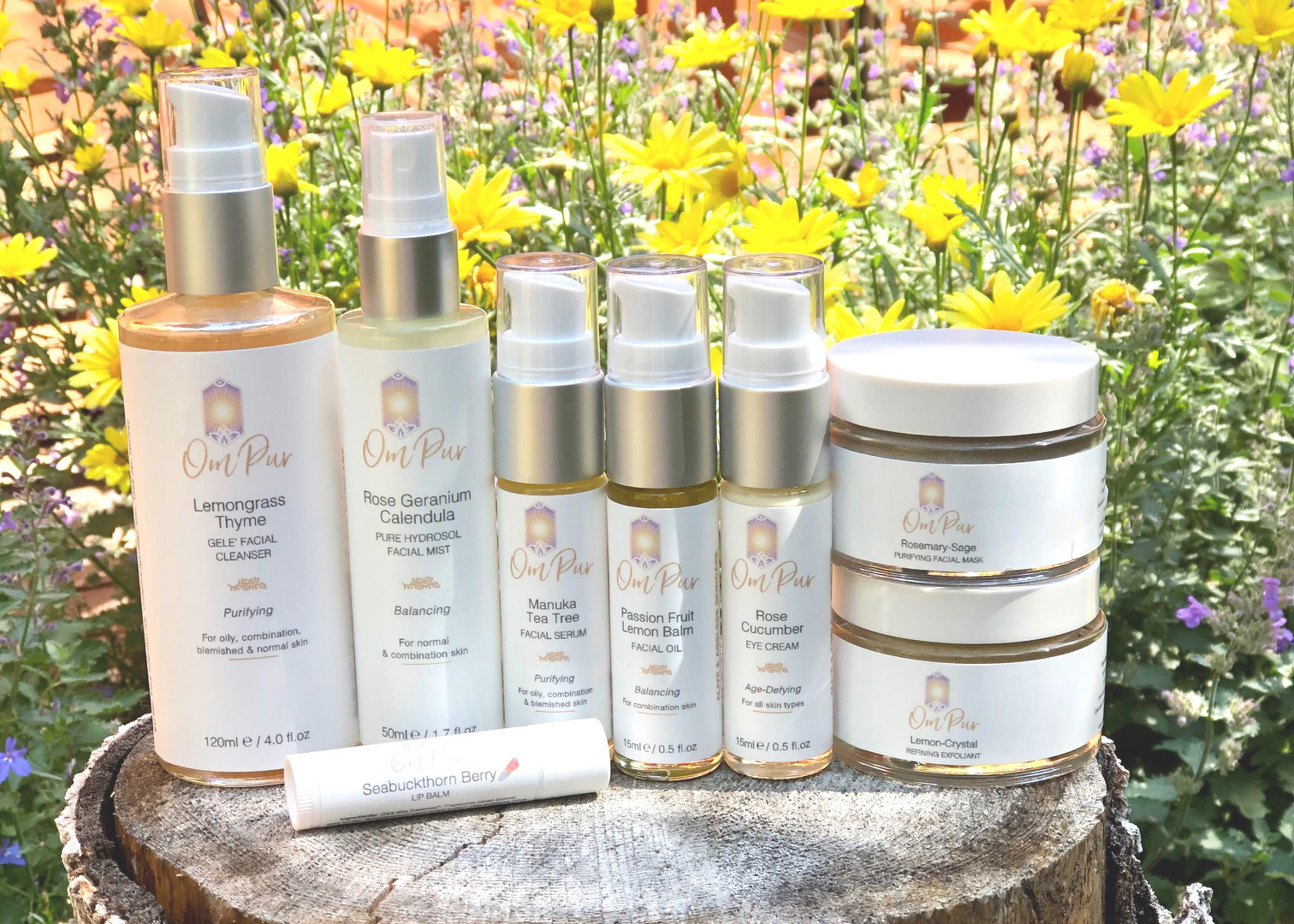 om pur natural organic skincare routine
