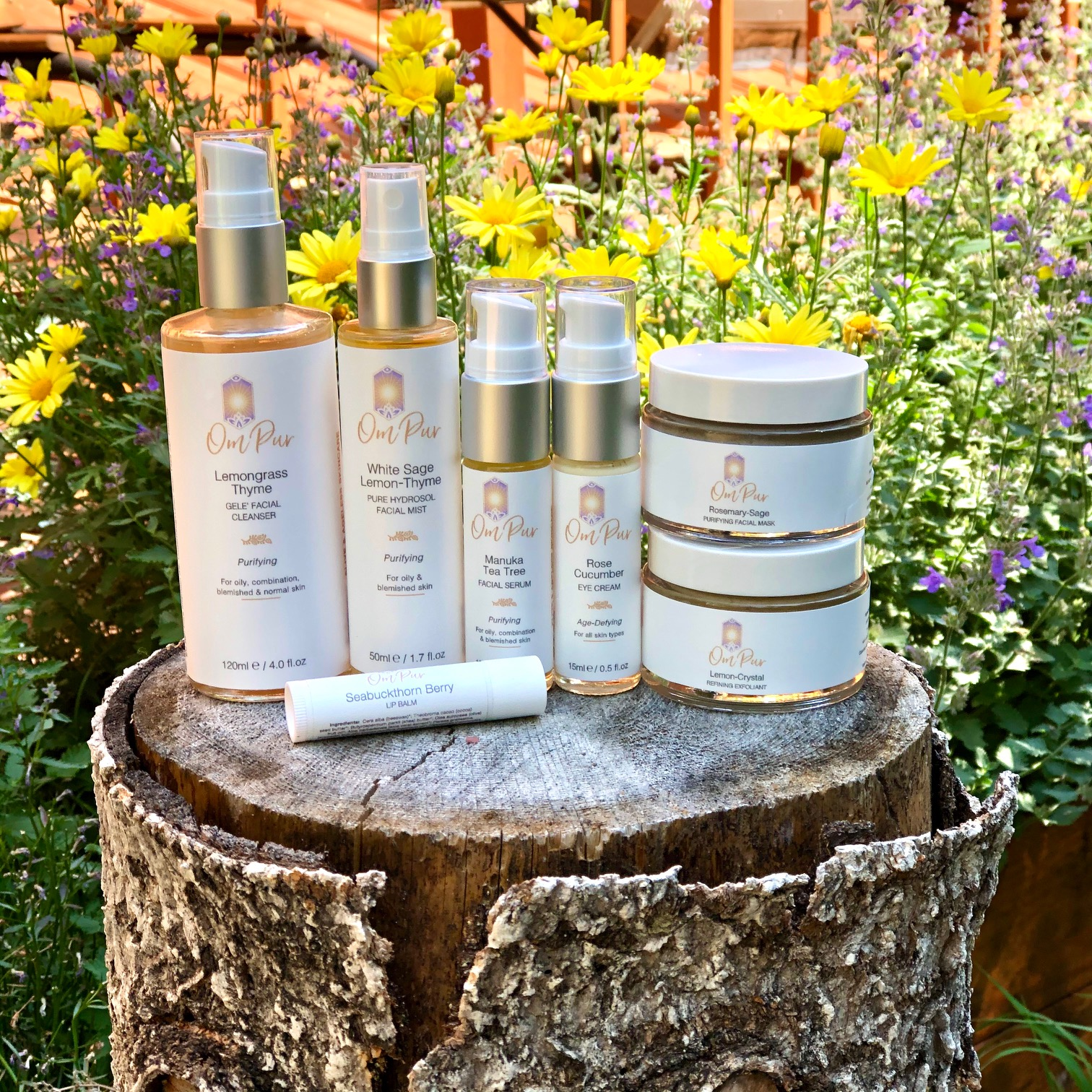 OM PUR organic natural skincare routine for oily blemished skin