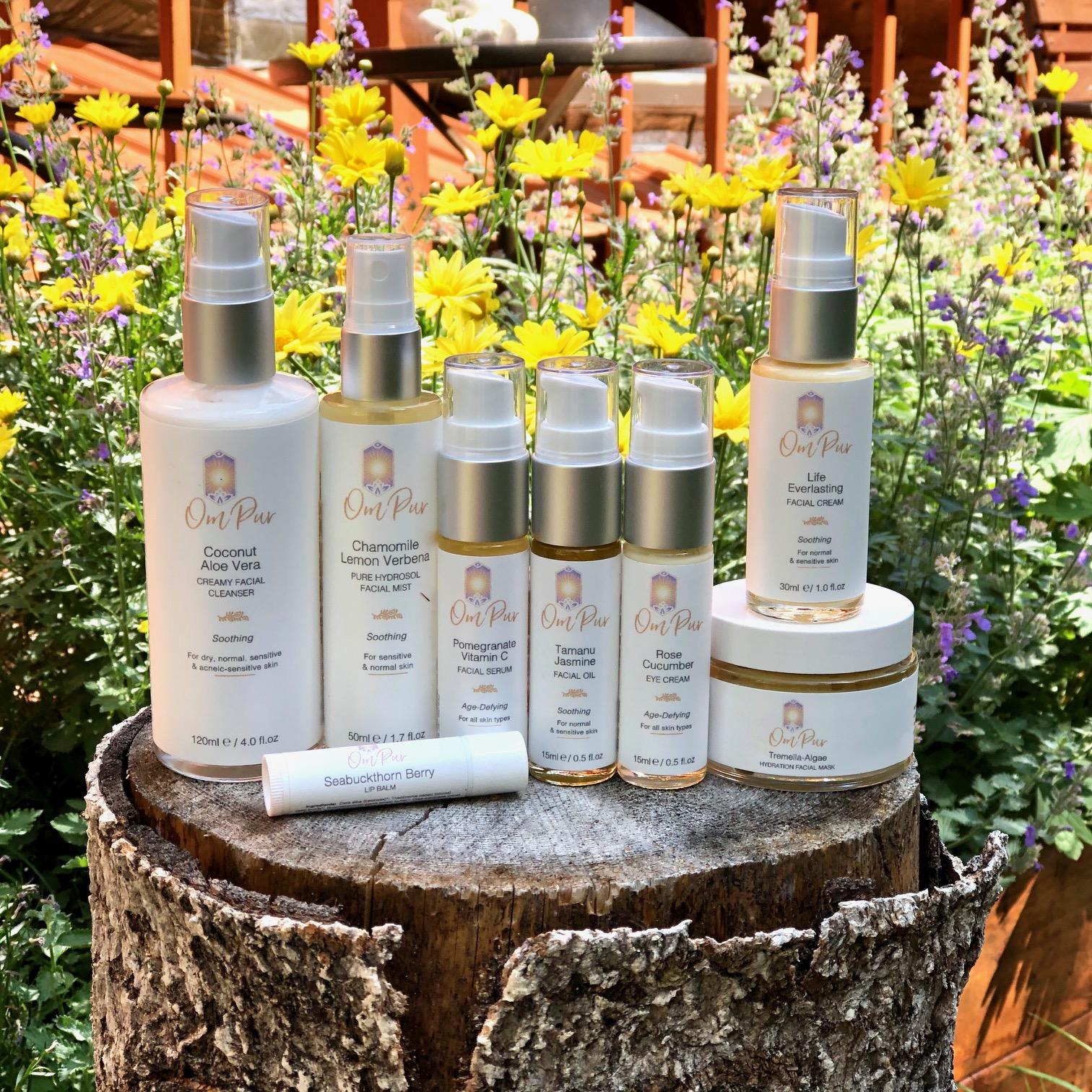 OM PUR organic natural skincare for sensitive skin